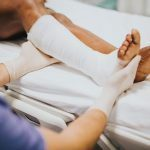 personal injury to leg and ankle